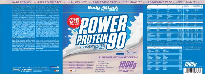 Power Proti 90 Bluberry Yoghurt
