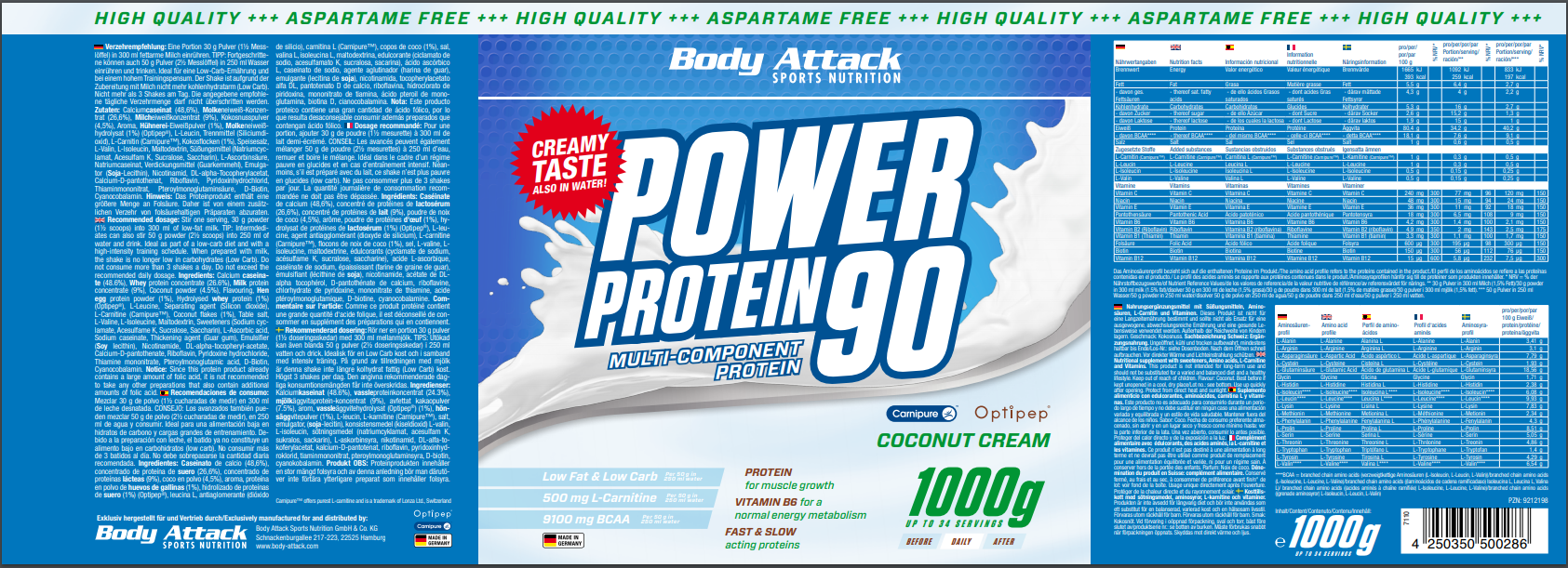 Power Proti 90 Coconut