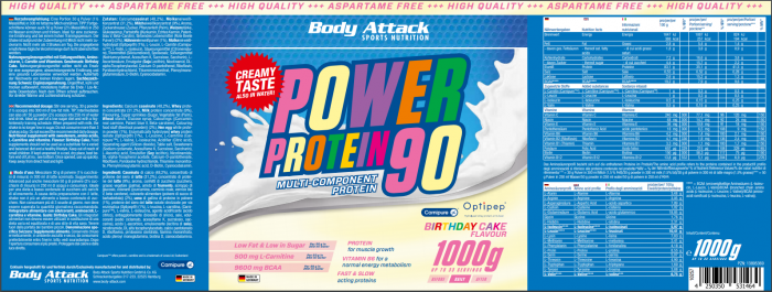 Power Proti 90 Birthday Cake