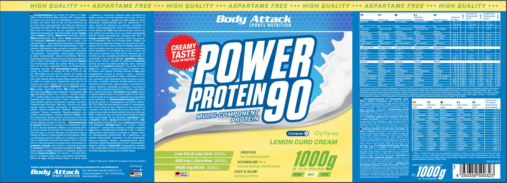 Power Proti 90 Lemon