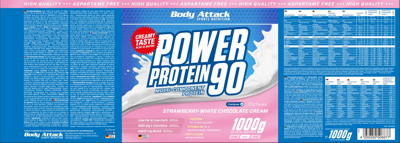 Power Proti 90 Strawberry White Chocolate
