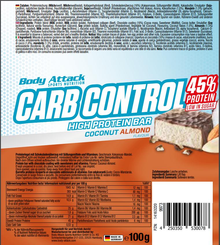 Carb Control Coconut Almont