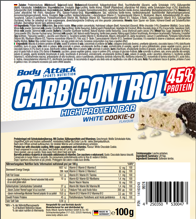 Carb Control White Cookie-O