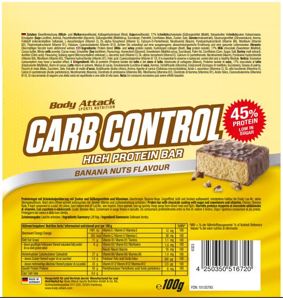 Carb Control Banana Nuts