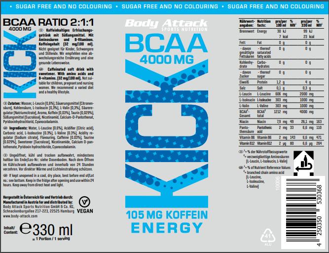 bcaa kick energy
