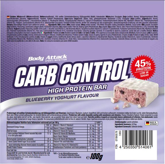 Carm Control Bluberry Yoghurt