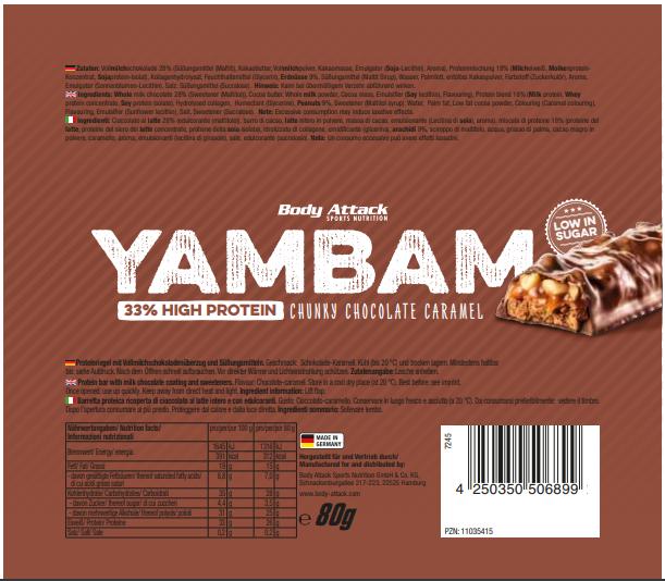YamBam Chunky Chocolate Caramel