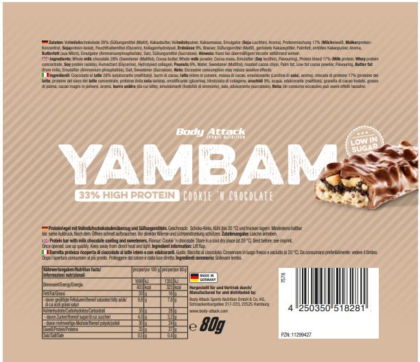 YamBam Cookie Chocolate