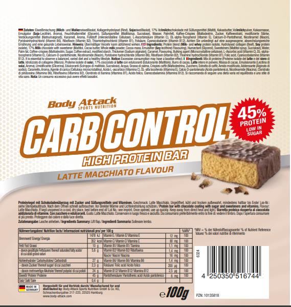 Carb Control Latte Macciato