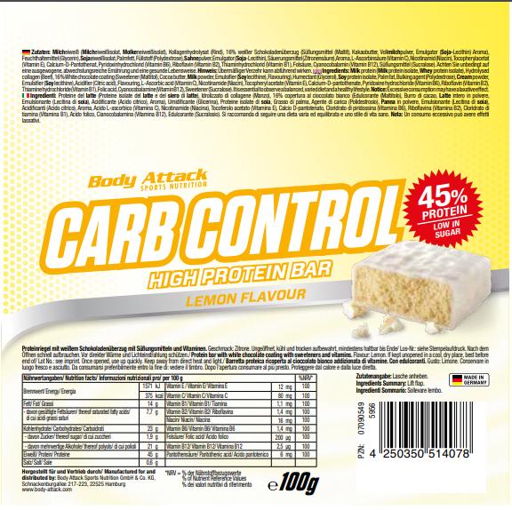 Carb Control Lemon