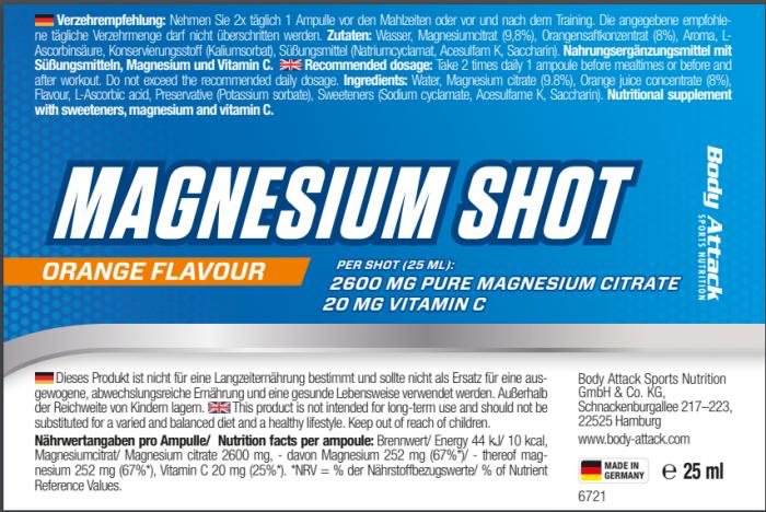 Magnesium Shot