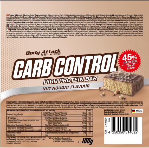 Carb Control Nut Nugat