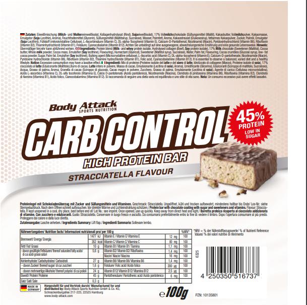Carb Control Strcciatella