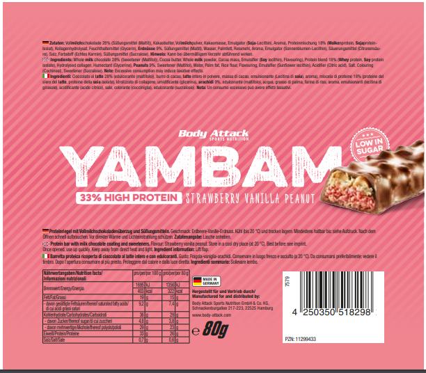 YamBam Strawberry Vanilla Peanut