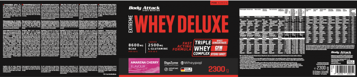 Body Attack Extreme Whey Deluxe - 2,3 kg Amarena Cherry