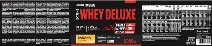 Body Attack Extreme Whey Deluxe - 2,3 kg Banane Cream