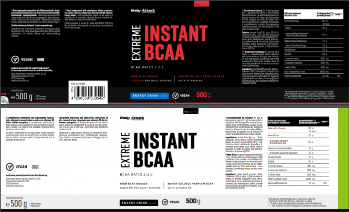Instant BCAA Energy Drink