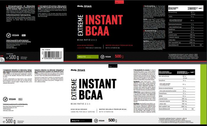 Instant BCAA Mojito