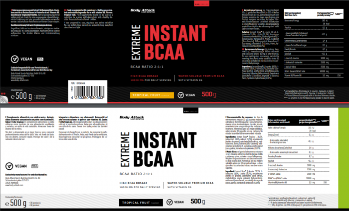 Instant BCAA Tropical
