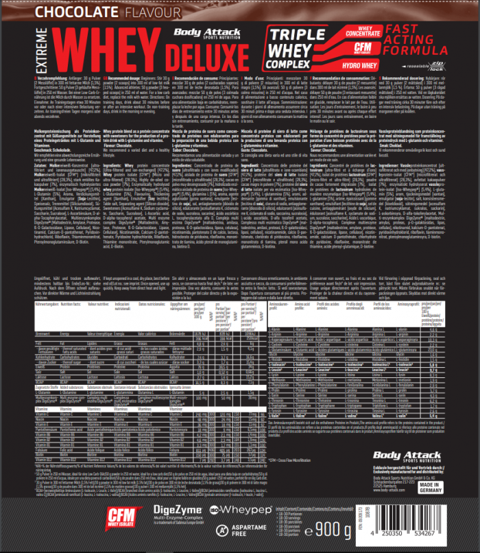 extreme whey delux chocolate